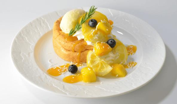 夏のレモン&マンゴーパンケーキ